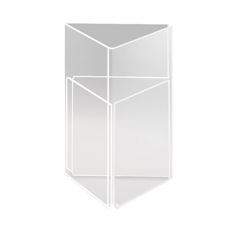 "Cal-Mil 541 Three-Sided Tabletop Menu Card Holder - 4"" x 6"", Acrylic"