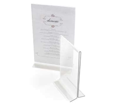 Cal-Mil 5459 T Type Clear Acrylic Displayettes Card Holder, 5.5 x 7-in High