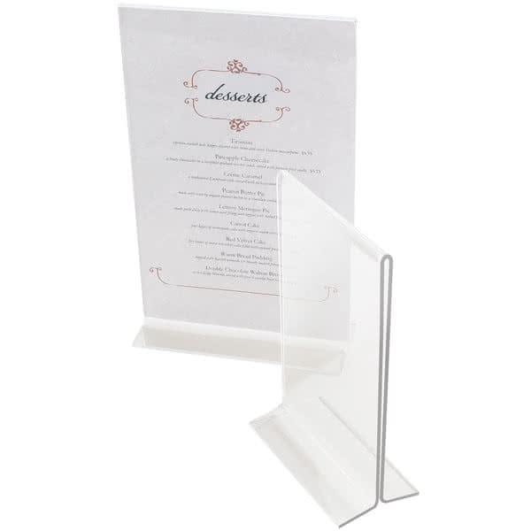 """Cal-Mil 570 Tabletop Menu Card Holder - 5"""" x 7"""", Acrylic, Clear"""