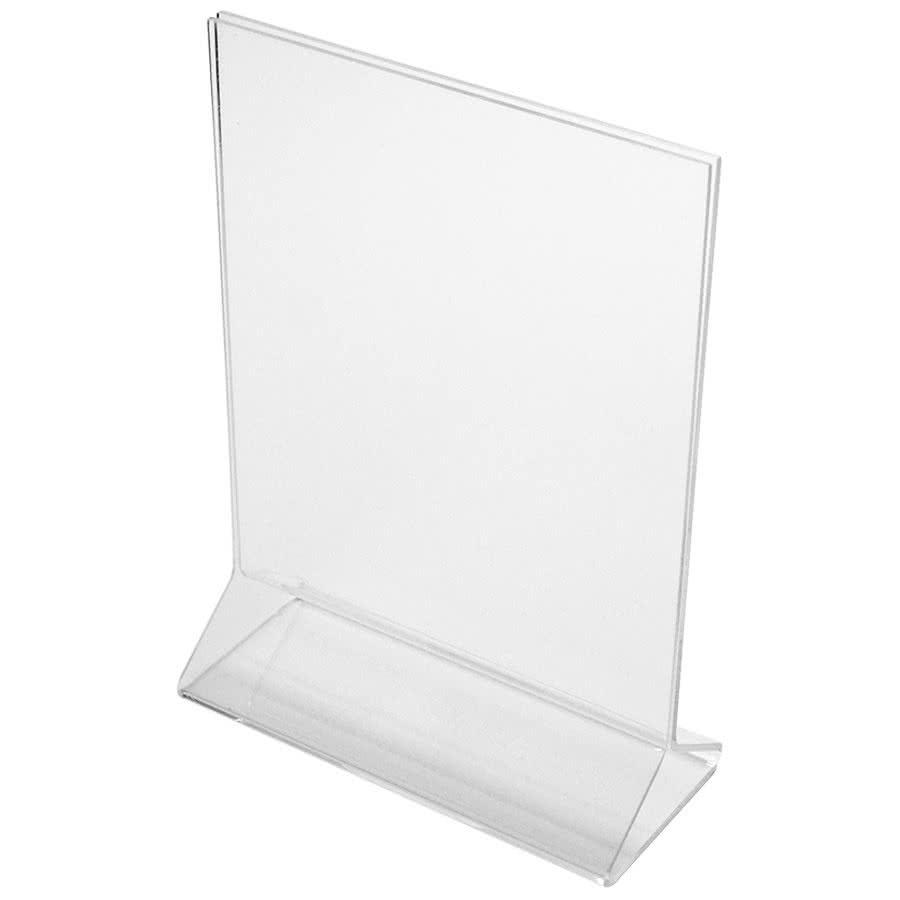 """Cal-Mil 580 Tabletop Menu Card Holder - 5"""" x 7"""", Acrylic, Clear"""