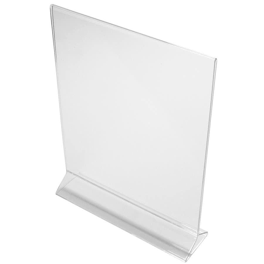 """Cal-Mil 583 Tabletop Menu Card Holder - 8.5"""" x 11"""", Acrylic, Clear"""