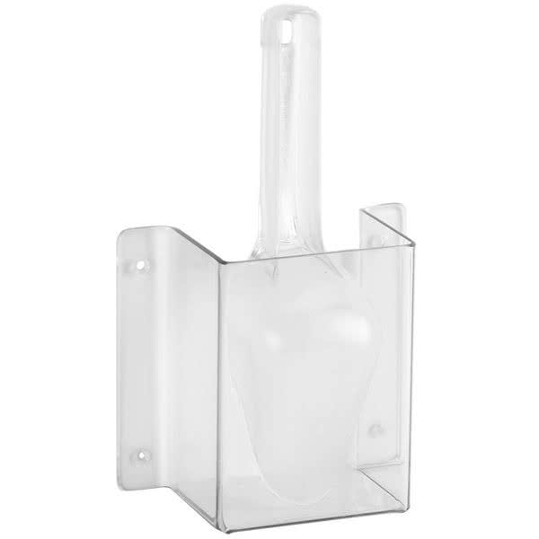 Cal-Mil 623 Wall-Mount Scoop Guard w/ 6 oz Scoop - Polycarbonate, Clear