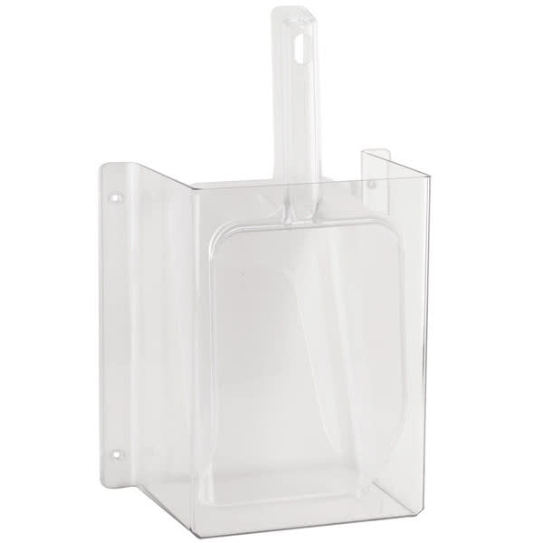 Cal-Mil 631 Wall-Mount Scoop Guard w/ 64 oz Scoop - Polycarbonate, Clear