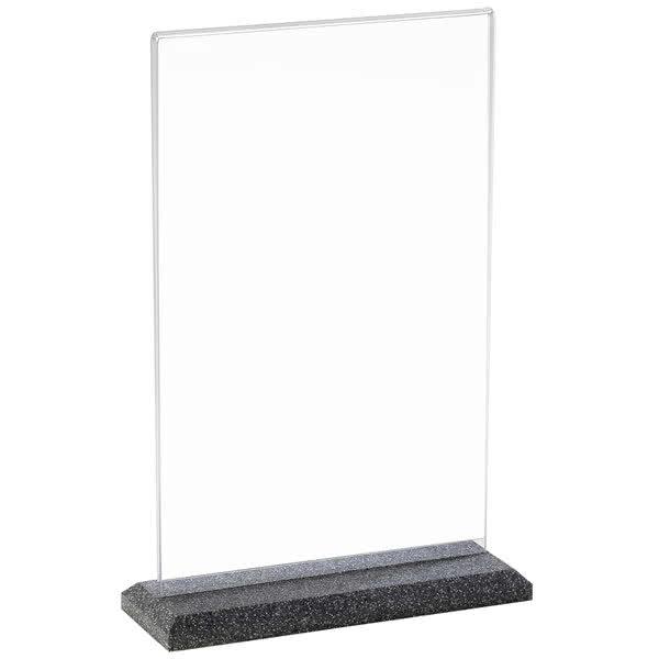 "Cal-Mil 650-17 Tabletop Menu Card Holder - 4"" x 6"", Black Pearl"