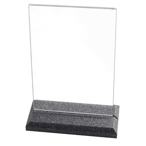 "Cal-Mil 653-17 Tabletop Menu Card Holder - 5.5"" x 8.5"", Black Pearl"