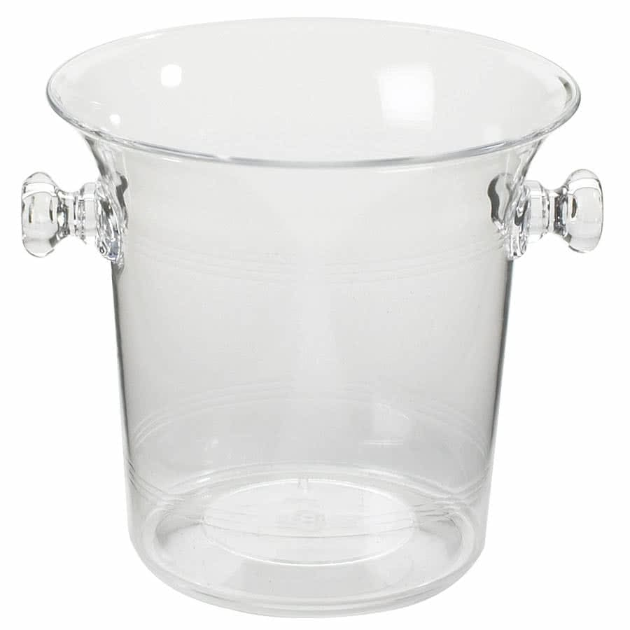 "Cal-Mil 694 8"" Round Wine Bucket w/ Handles - Acrylic, Clear"