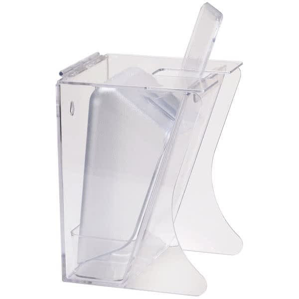 Cal-Mil 792 Freestanding Scoop Holder w/ 64 oz Scoop - Polycarbonate, Clear
