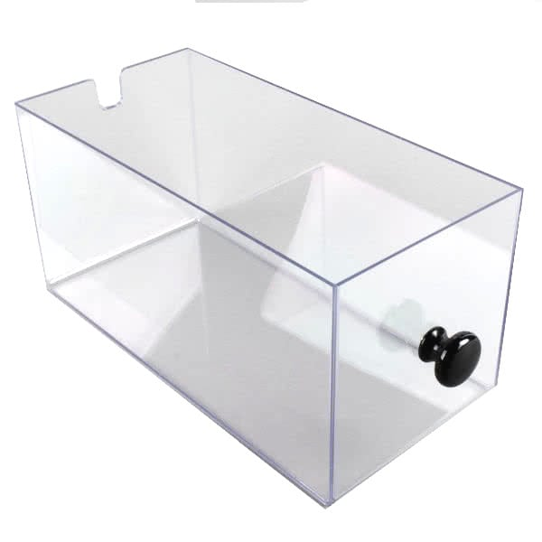 Cal-Mil 813-96DRAWER Drawer w/ Black Knob for 813 96 Bread Display Case - Acrylic, Clear