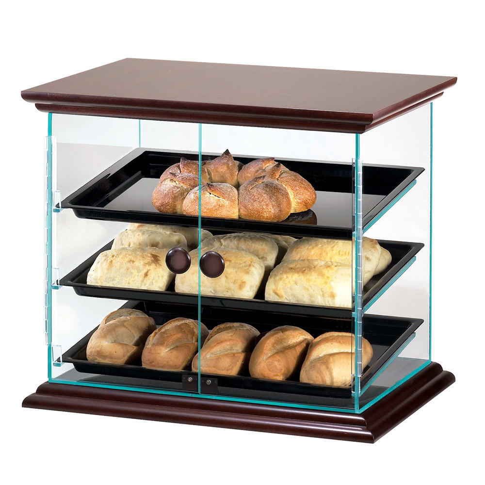 "Cal-Mil 815-52 Self Serve Display Case w/ Black Trays, 21 x 16.75 x 18.25"" High"