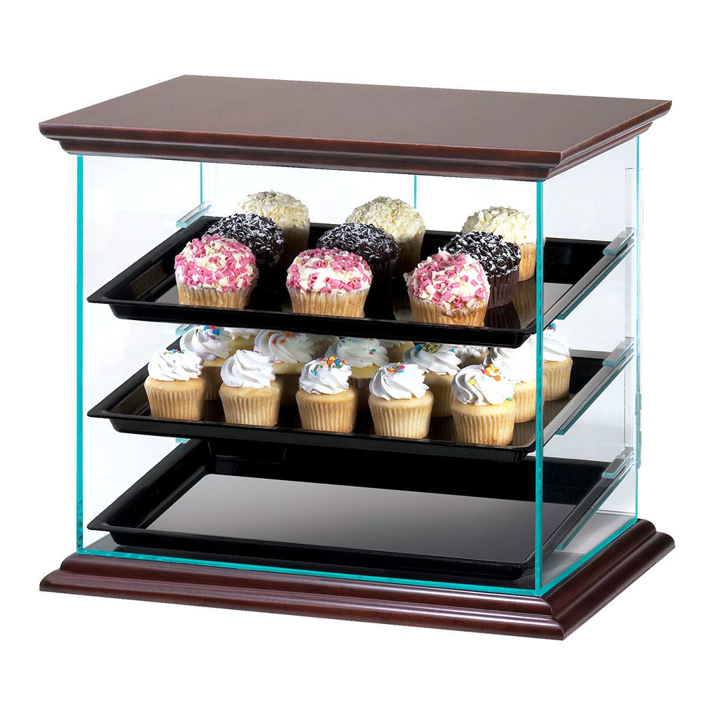 "Cal-Mil 815-52A Attendant Serve Display Case w/ Trays, 21 x 16.75 x 18.25"" High"