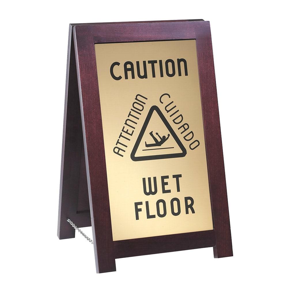 "Cal-Mil 851-WET Wet Floor Sign w/ Wood Frame, 12 x 4 x 20"" High"