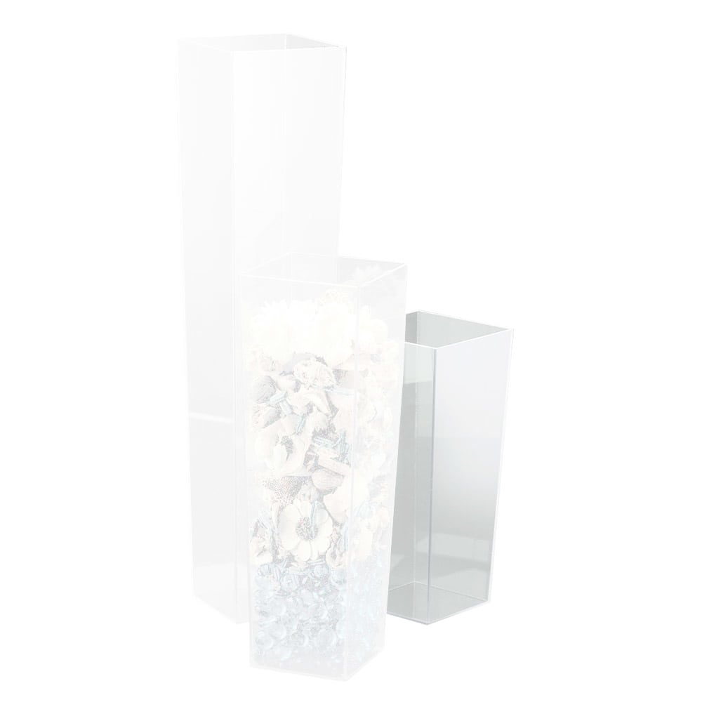 """Cal-Mil 879-12 Durable Square Accent Tower w/ 4"""" Base & 5"""" Top, 12"""" High"""