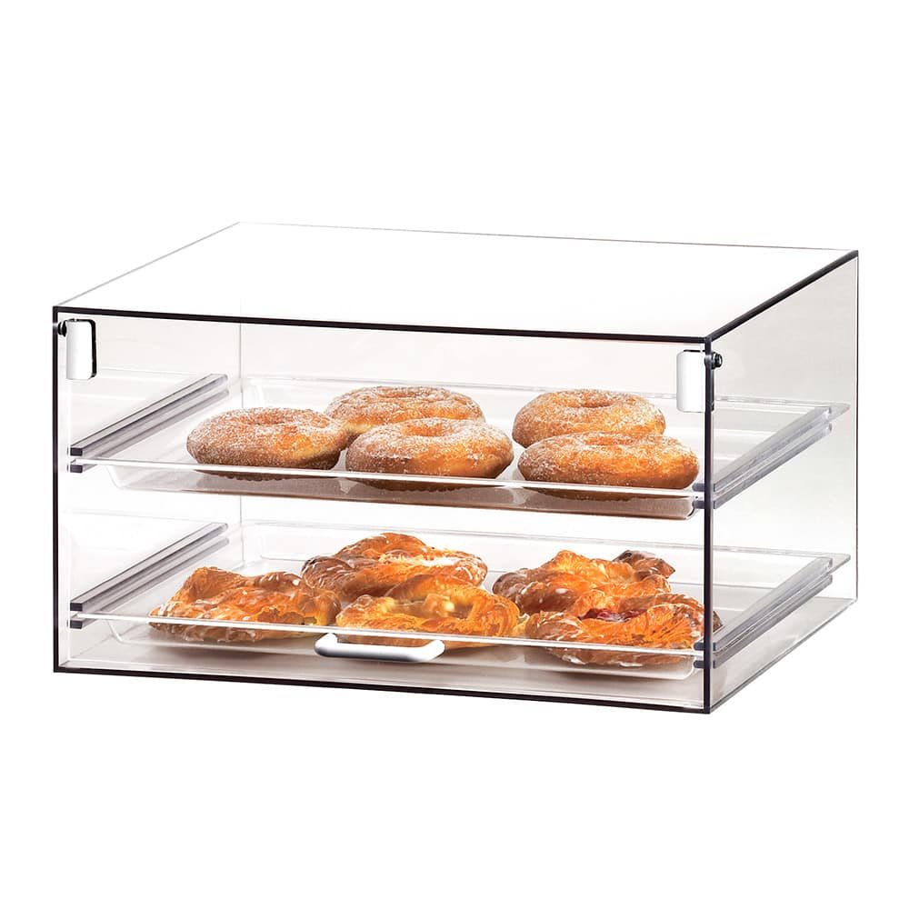 "Cal-Mil 921 Countertop Stackums Display Case w/ 1 Door & (2) 13 x 18"" Trays"
