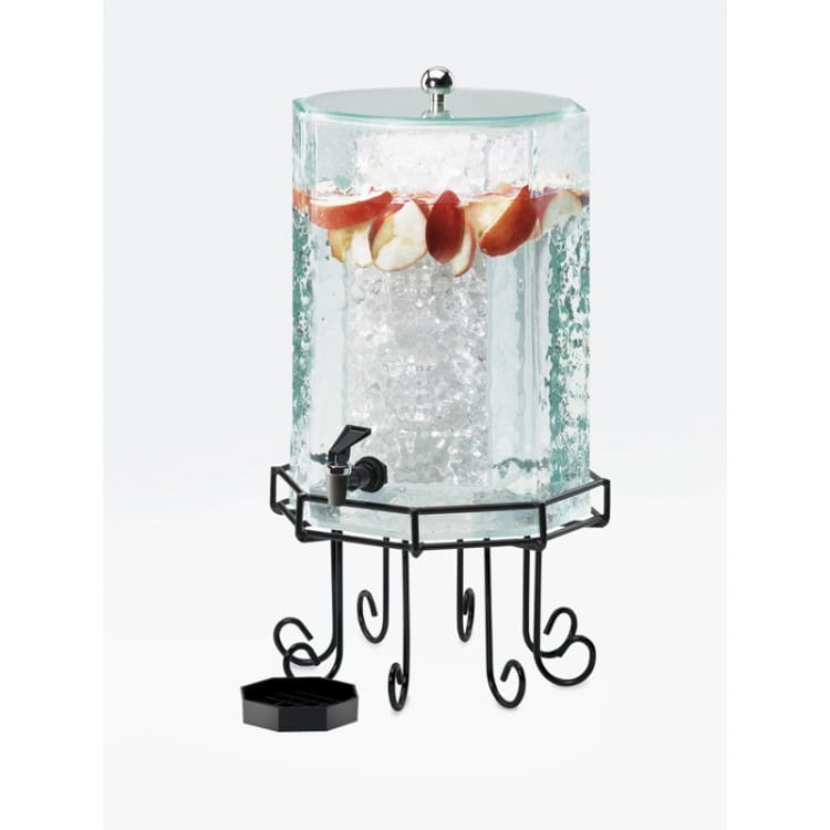 Cal-Mil 932-3INF 3 gal Beverage Dispenser w/ Infusion Chamber - Plastic w/ Black Wire Base