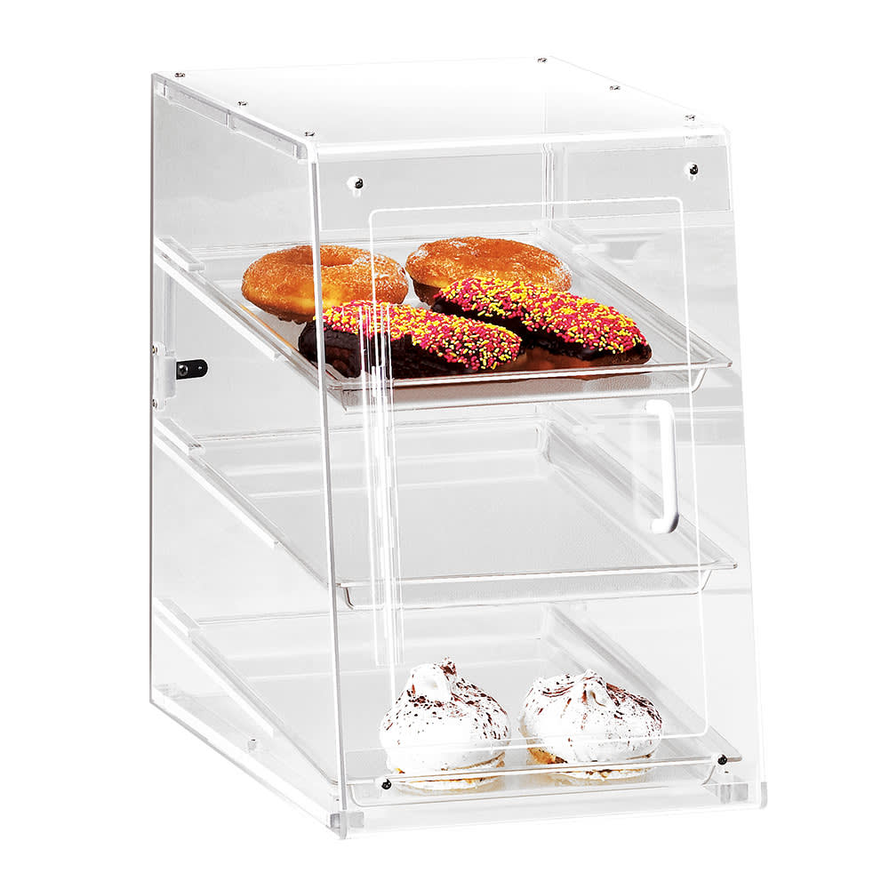 "Cal-Mil 942-S Countertop Display Case w/ Self Serve Door & (3) 13 x 18"" Trays"