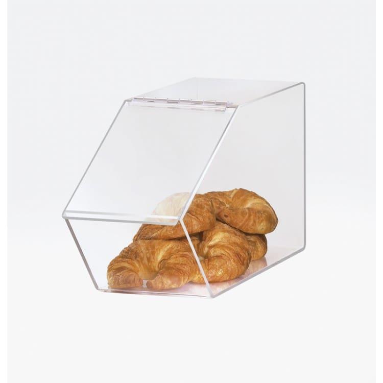 "Cal-Mil 944 Pastry Display Bin w/ Hinged Lid - 7.5""W x 20""D x 10.5""H, Acrylic"