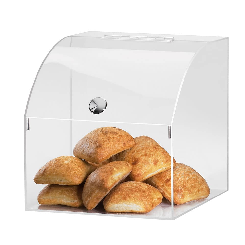 """Cal-Mil 945 12.5"""" Square Pastry Display Case w/ Curved Top, 12.5 x 12.5 x 12.5""""H"""