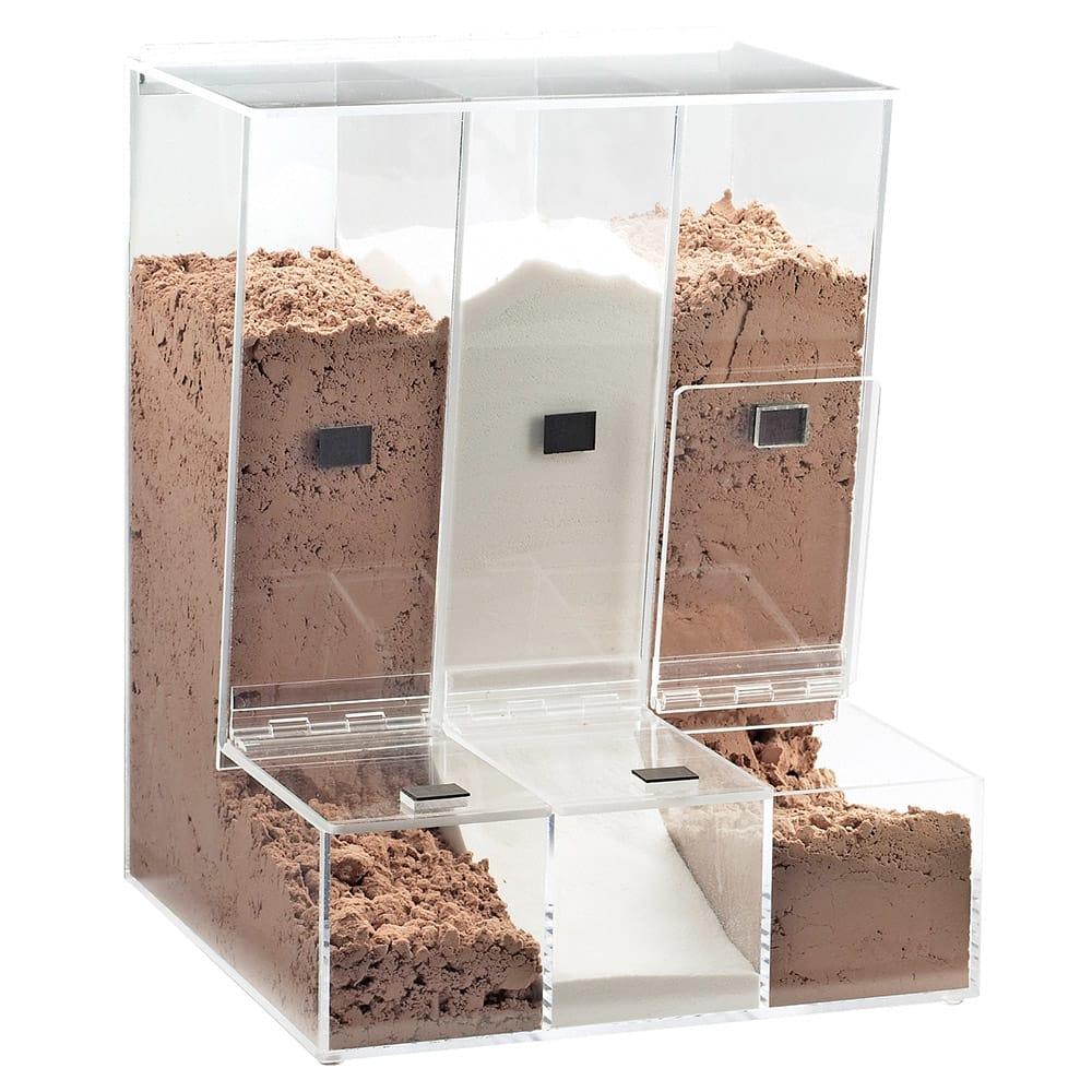 Cal-Mil 946 Multi Bin Bulk Food Dispenser w/ 3-Compartments, Clear Acrylic