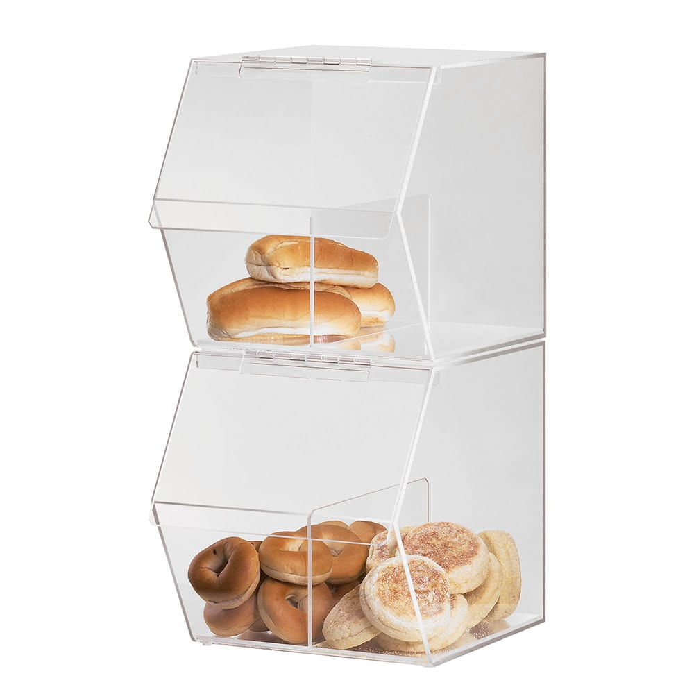 "Cal-Mil 948 Stackable Food Bin w/ Removable Divider, 11 x 14 x 12"" H, Clear"