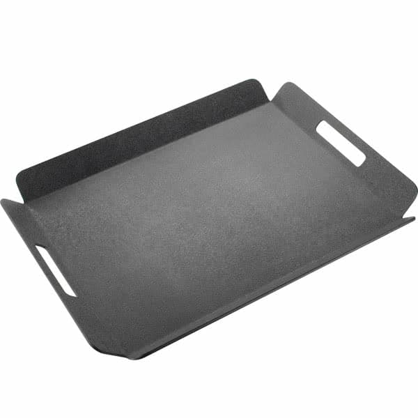 "Cal-Mil 958-1-13 Rectangular Room Service Tray - 22.5"" x 17"", Plastic, Black"