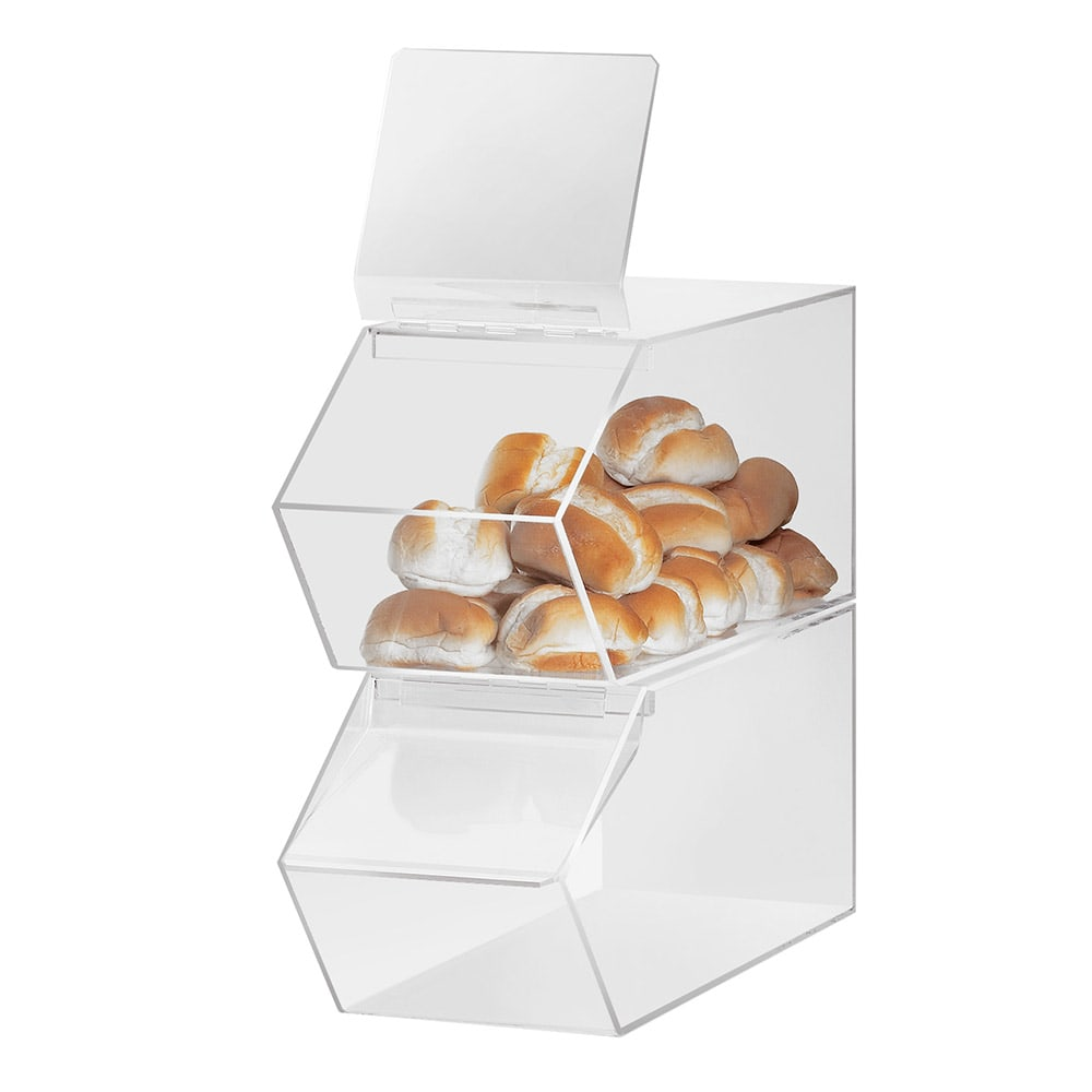 "Cal-Mil 992 Classic Stackable Food Bin, 7.5 x 19.5 x 8""H, Clear Acrylic"