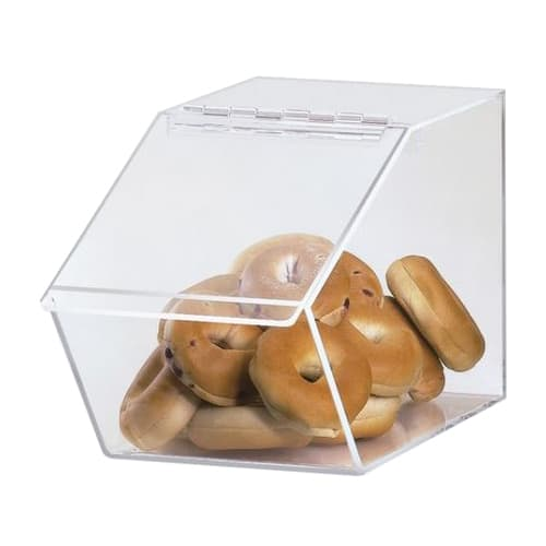 "Cal-Mil 999 Pastry Display Bin w/ Hinged Lid - 7.5""W x 14""D x 9""H, Acrylic"