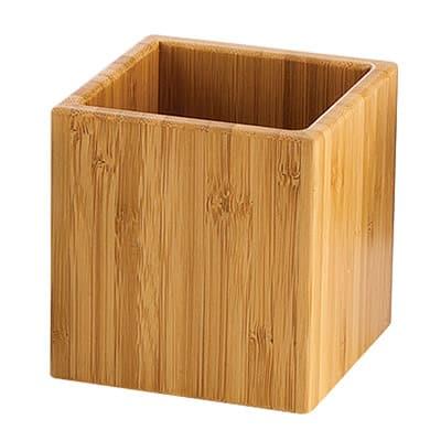 Cal-Mil C4X4-60 4 Square Jar, Bamboo