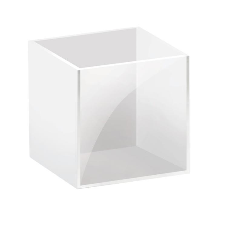 "Cal-Mil C4X4ACRYLIC 4"" Square Condiment Bin - Acrylic, Clear"