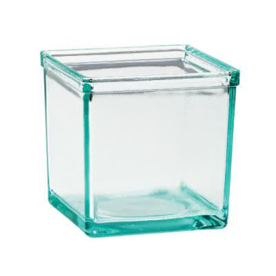 "Cal-Mil C5X5GLASS 5"" Square Jar for 3604 13, Glass"