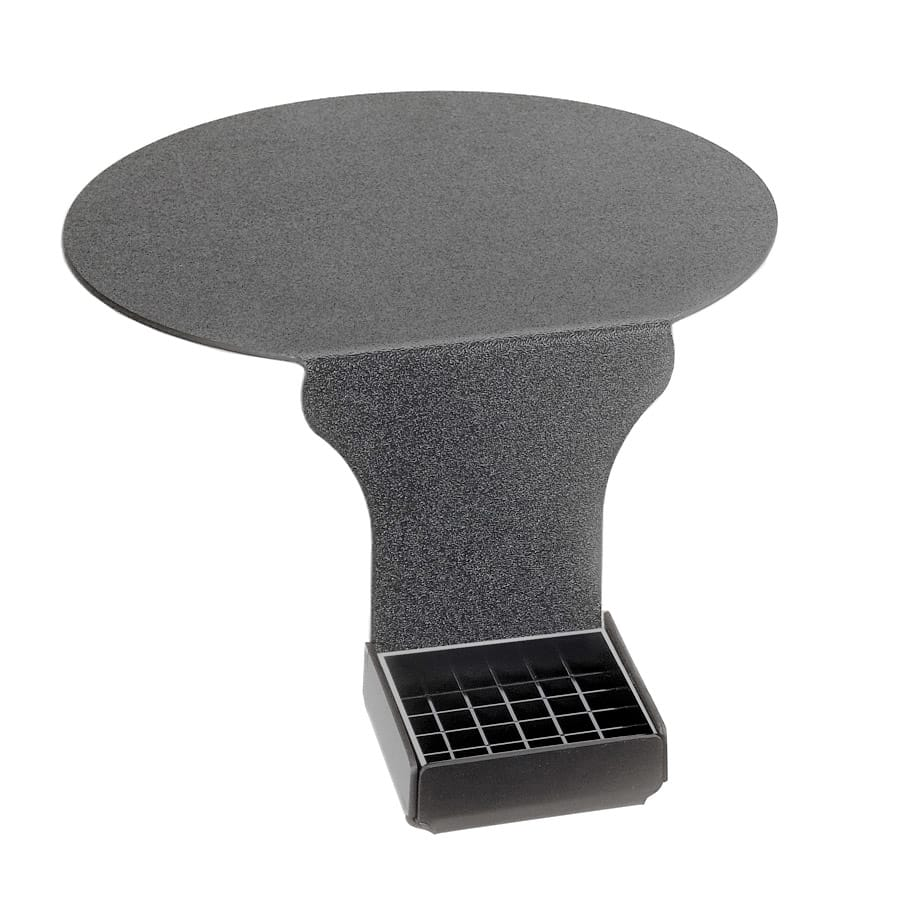 """Cal-Mil DM005 Drip Tray w/ Round Base Support & 6"""" Drop, Black Plastic"""