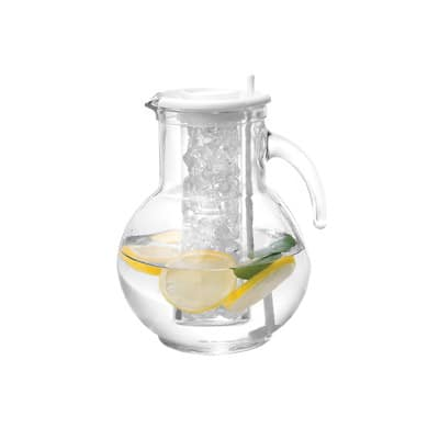 "Cal-Mil JC100 8"" Gourmet Glass Pitcher - Glass, Clear"