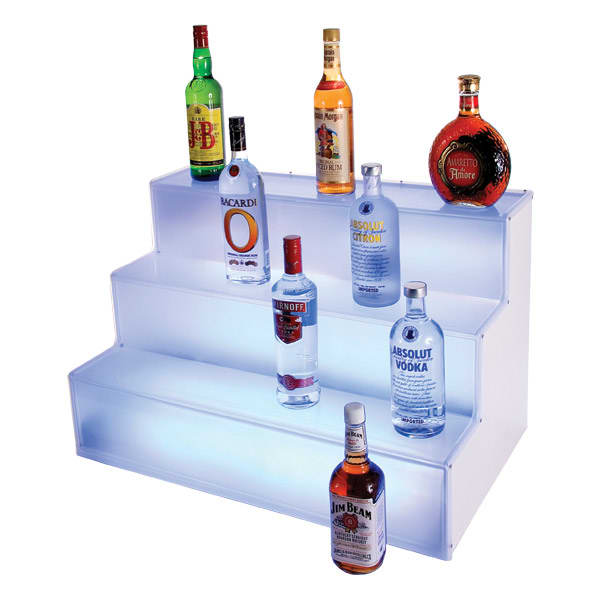 Cal-Mil LQ31 3 Tier Liquor Display - Frost