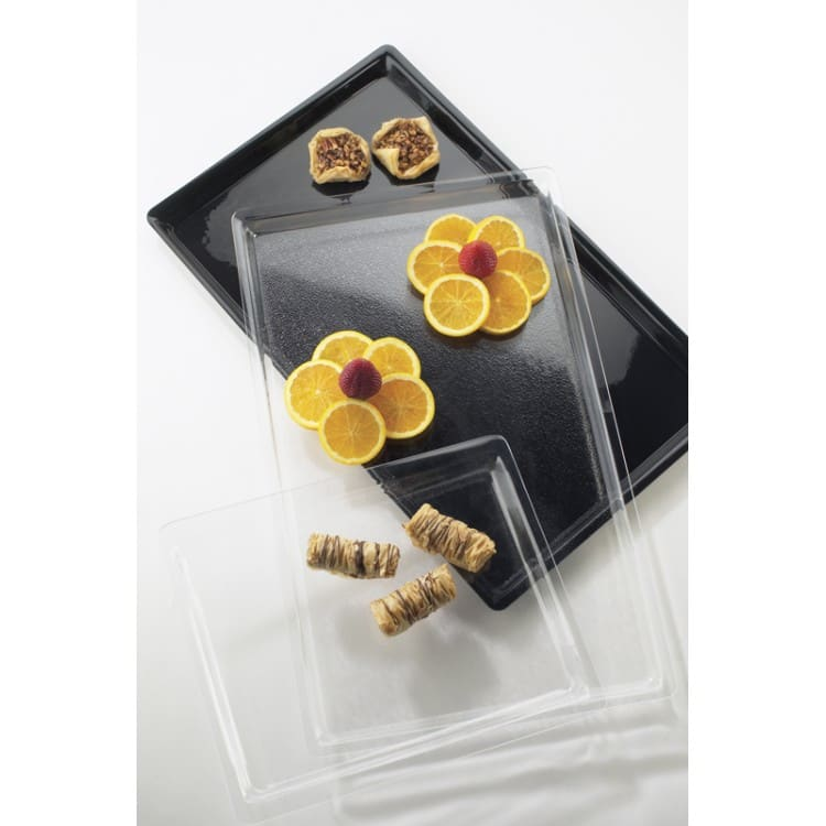 "Cal-Mil P235-12 Rectangular Display Tray - 26"" x 18"", Acrylic, Clear"