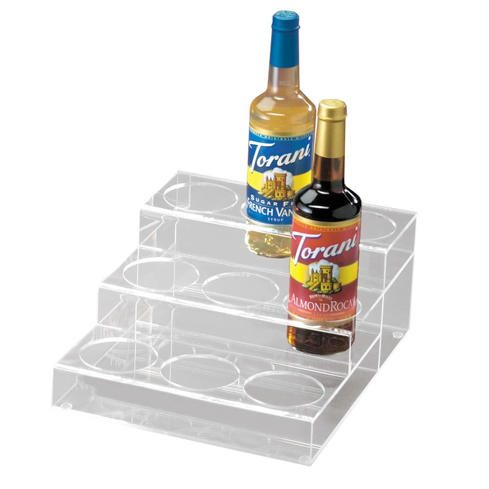 Cal-Mil P296 3 Tier Bottle Organizer w/ 9 Bottle Capacity, Clear