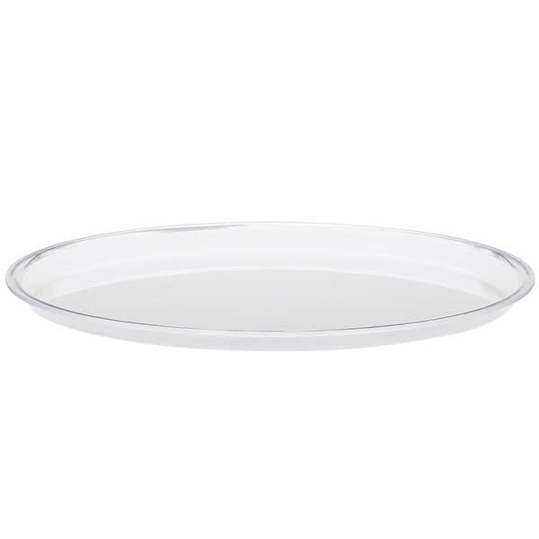 """Cal-Mil P306 12"""" Round Cake Tray - Acrylic, Clear"""