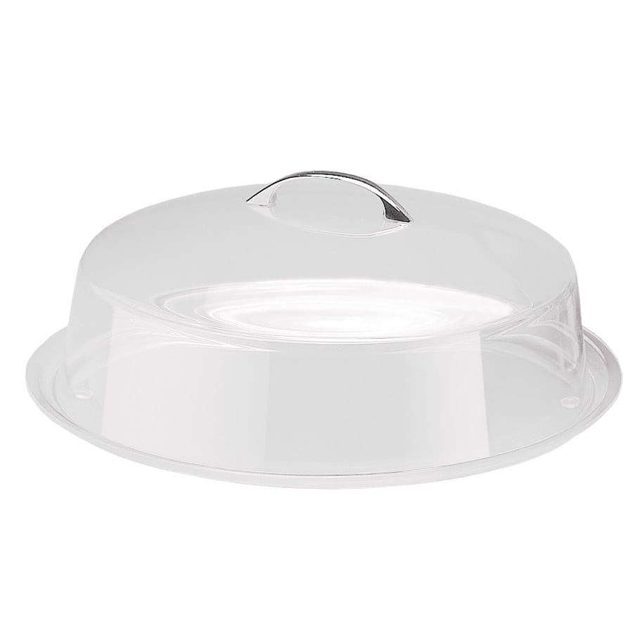 "Cal-Mil P313 12"" Round Clear Acrylic Pie Cover w/ Flat Top, 4"" High"