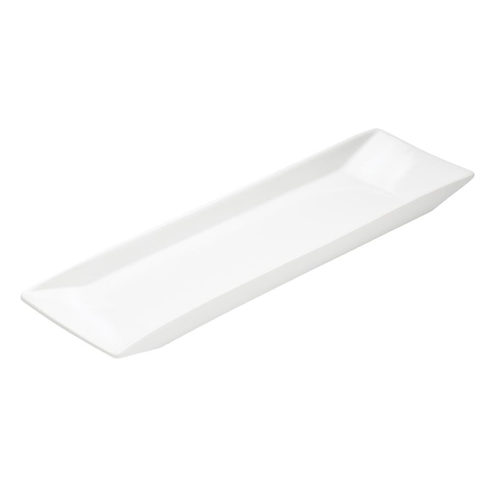 """Cal-Mil PP150 18"""" Rectangular Platter - Porcelain, White"""