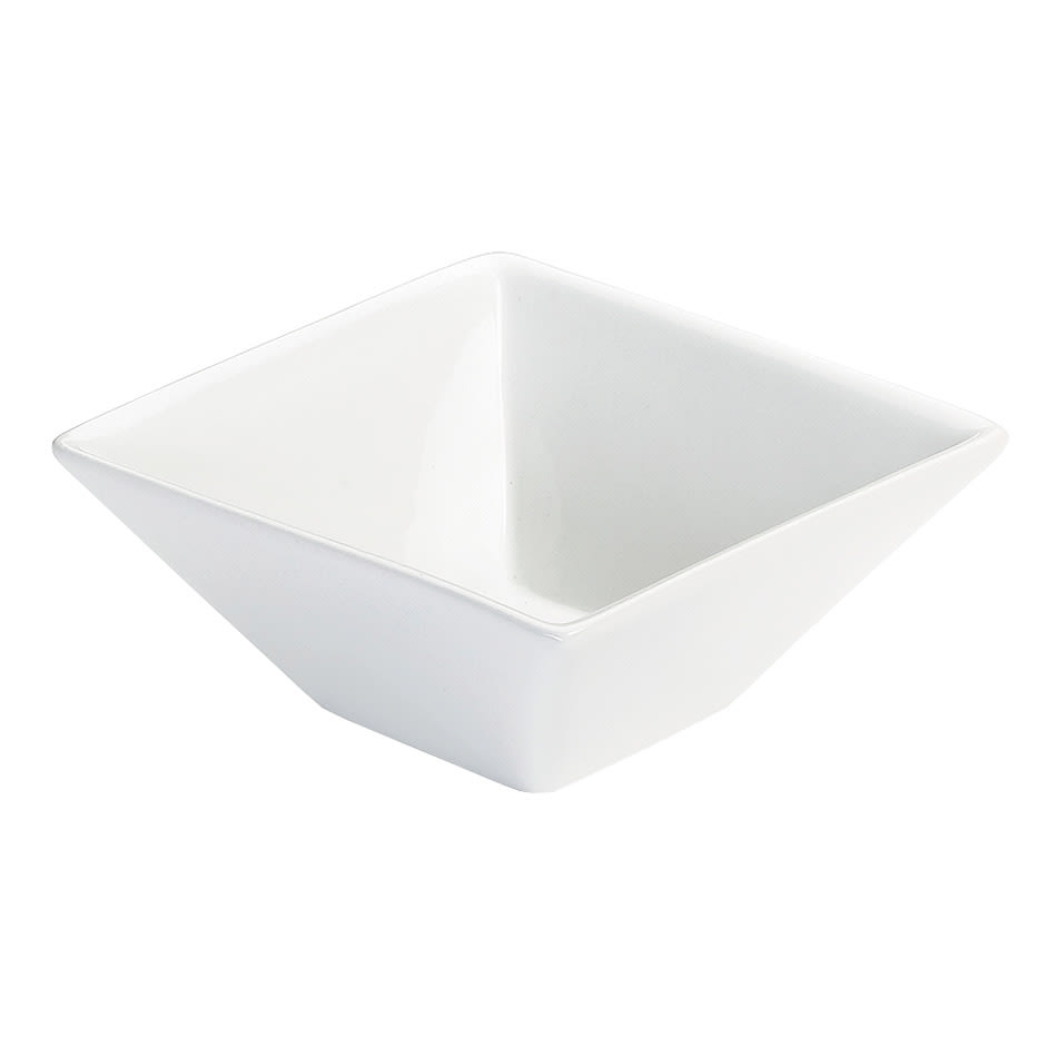 Cal-Mil PP250 30-oz Square Bowl - Porcelain, Bright White