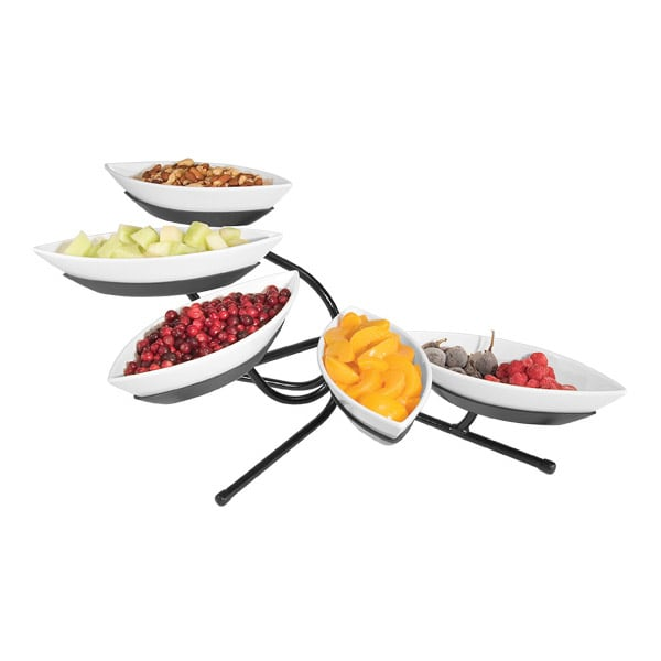 Cal-Mil SR303-13 5 Tier Sierra Canoe Display - Melamine, Black