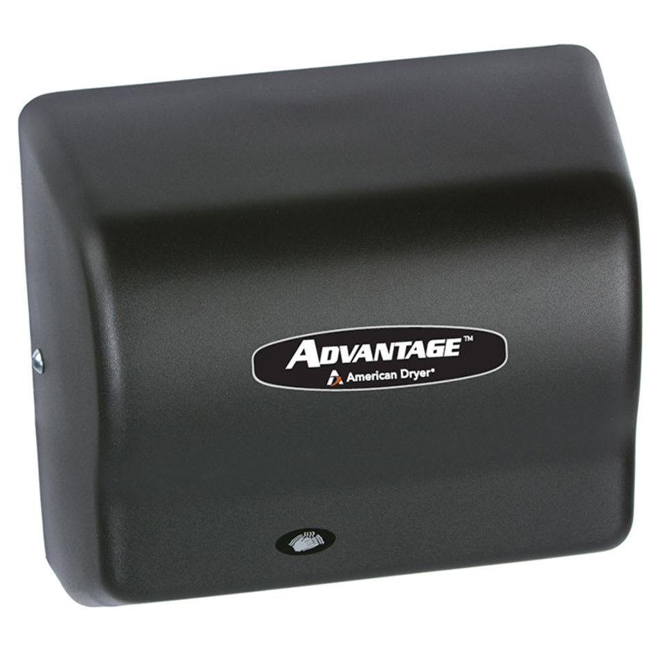 American Dryer AD90-BGH Hair Dryer w/ 25 Second Dry Time & Auto Sensor, Black Graphite