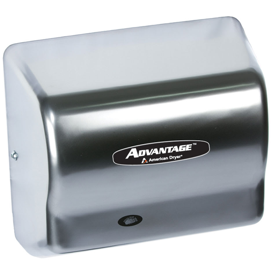 American Dryer AD90-SS Hand Dryer - Auto Sensor, 180 CFM/min, Stainless