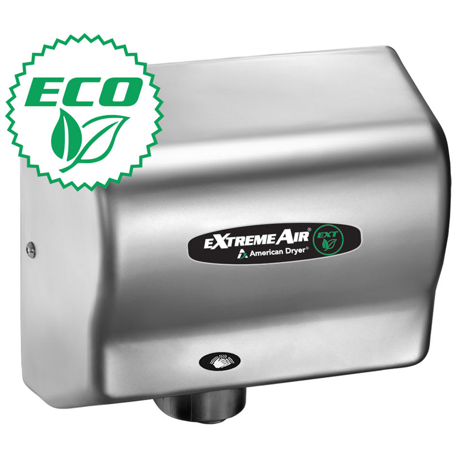 American Dryer EXT7SS Hand Dryer w/ 12 15 Second Dry Time & Automatic Sensor, Stainless