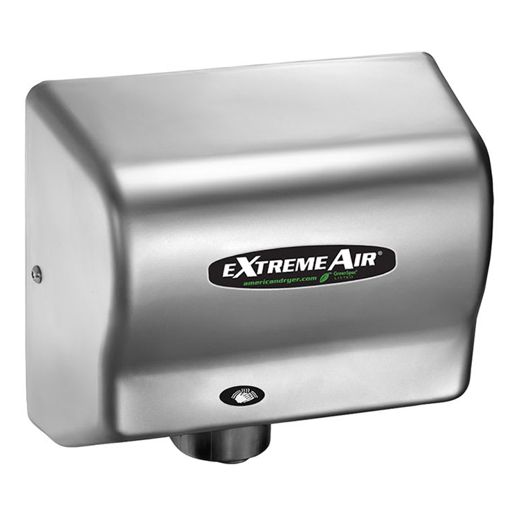 American Dryer GXT9C Hand Dryer - Auto Sensor, 10 12 Dry Time, Satin Chrome