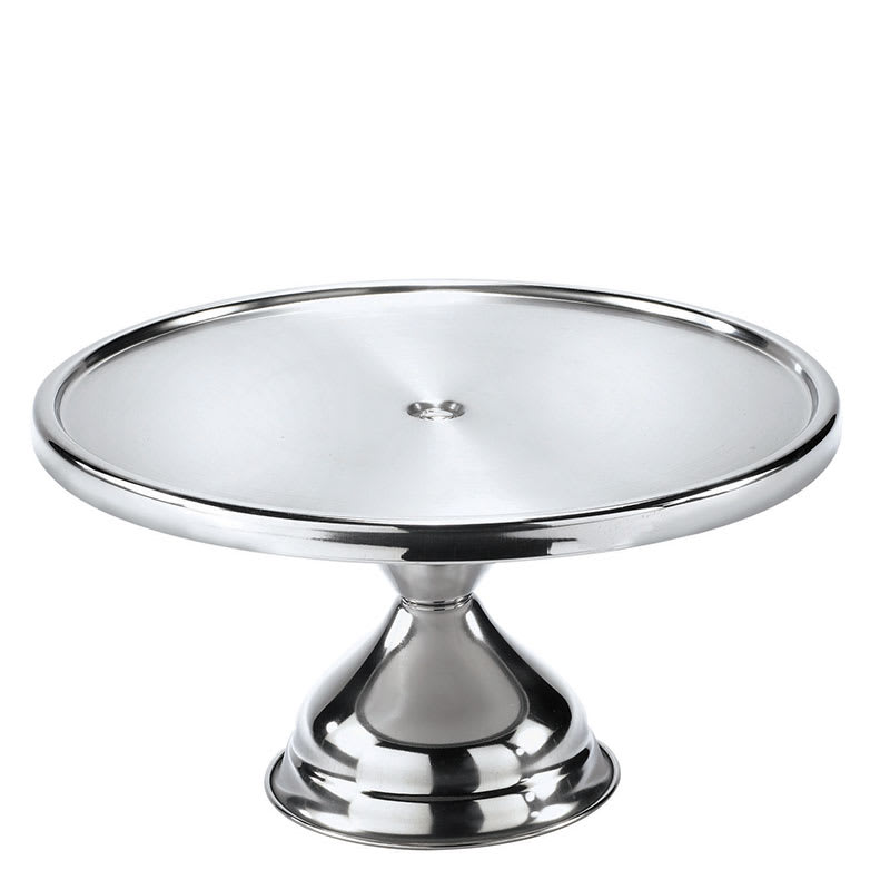 "Browne 57125 Cake Stand, 12"" Diameter, Stainless Steel"