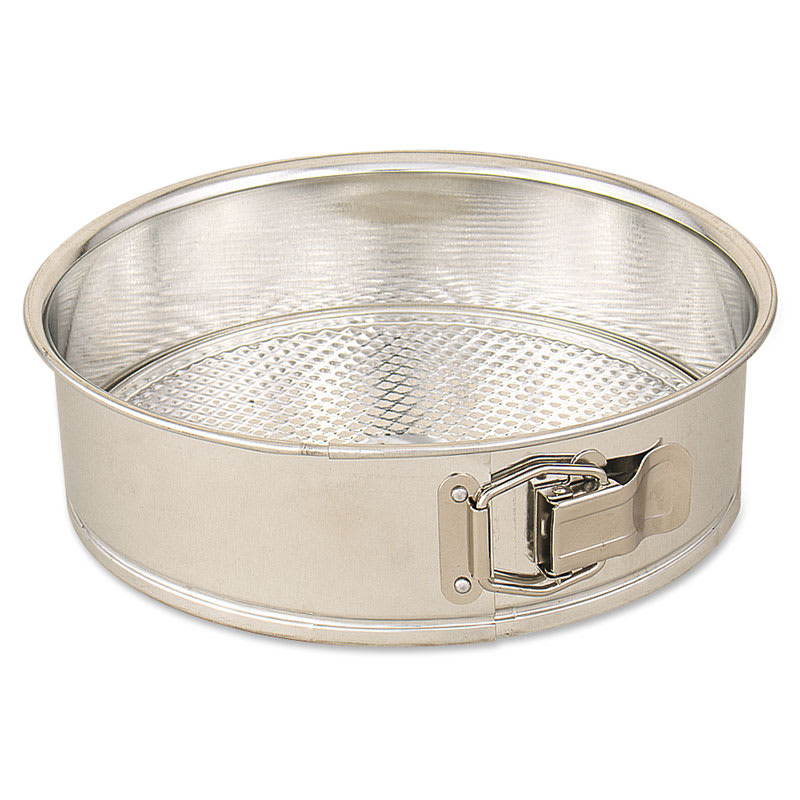 "Browne 746071 Cake Pan, Spring Form, 8"" Diameter, 2-1/2"" Deep, Polished Tin"