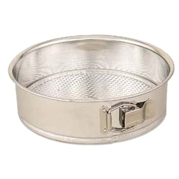 "Browne 746073 Cake Pan, Spring Form, 9 1/4"" Diameter, 2 1/2"" Deep, Polished Tin"