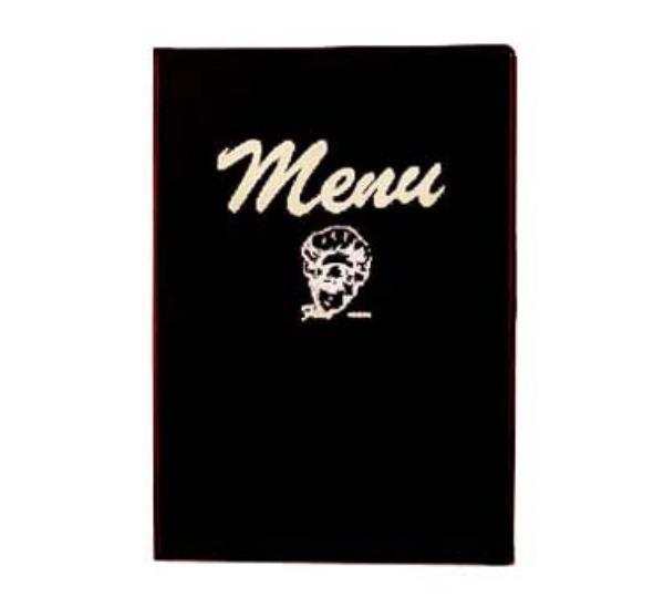Browne 103B Menu Cover with Printed Menu Inserts, 8 -1/4 x 12 in, Heat-Sealed Edges