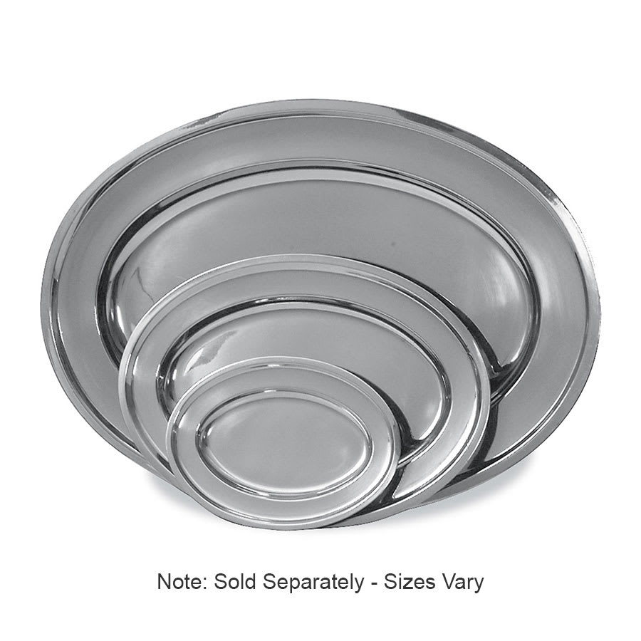 Browne 105370 Serving Tray, Stainless Steel, with Rolled Edge, 26 x 18 in