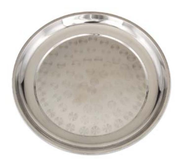 Browne 105645 Serving Tray, Stainless Steel, 17-3/4 Diameter