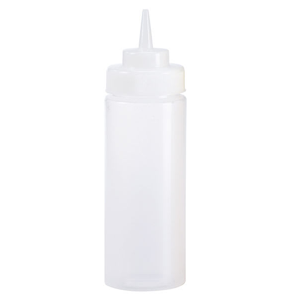 Browne 1102 8 oz Dressing Squeeze Bottle, No Drip Tip, Clear